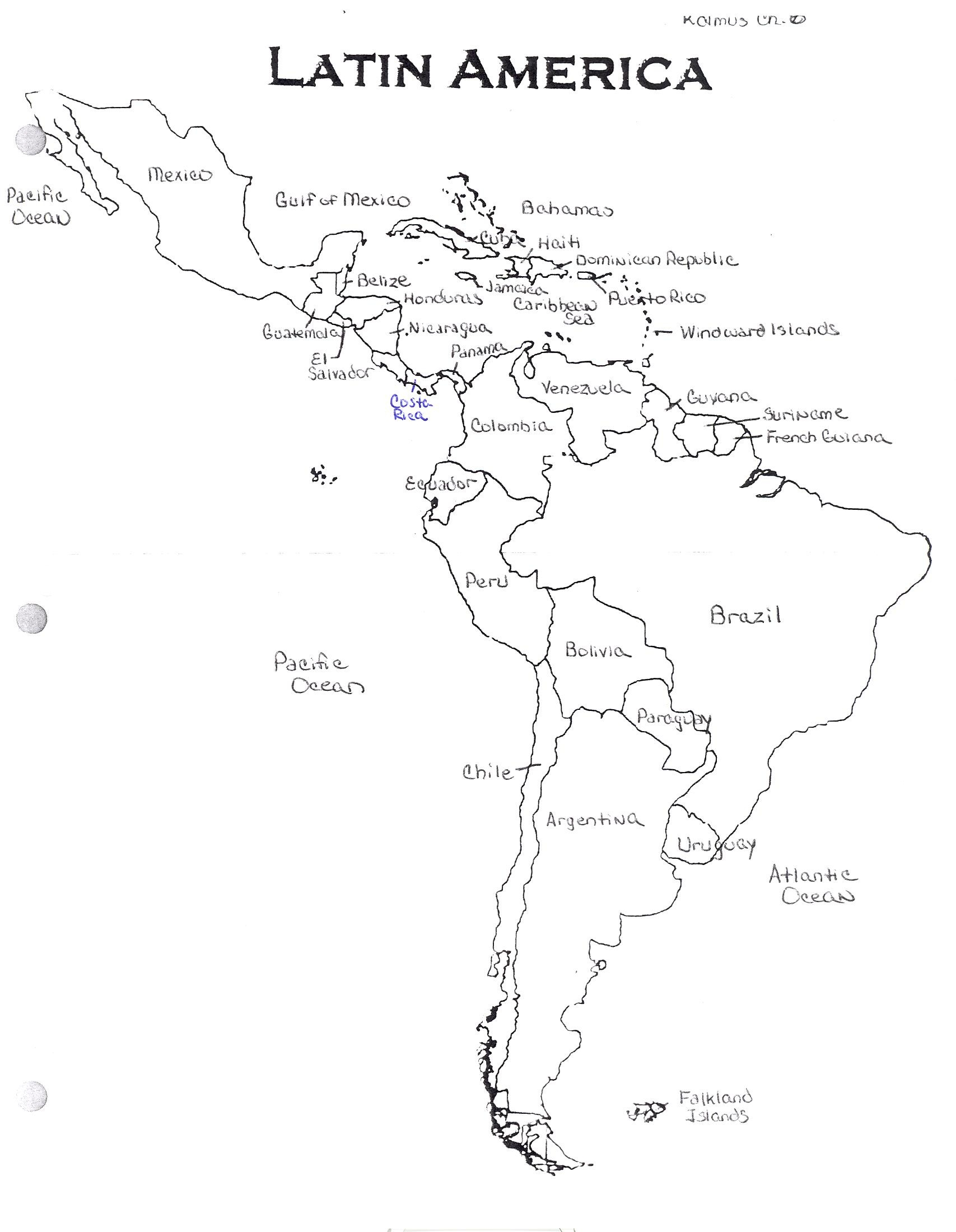 ... Chapter 8 Latin America Map ...